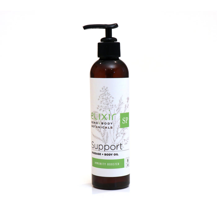 Elixir Mind Body Botanicals Support Massage & Body Oil