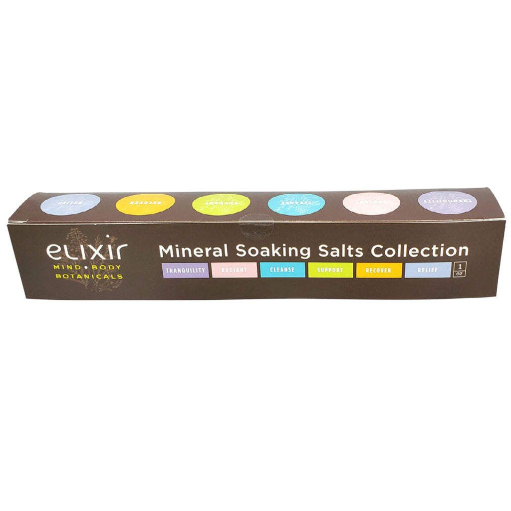 Elixir Mind Body Botanicals Mineral Soaking Salts Sampler