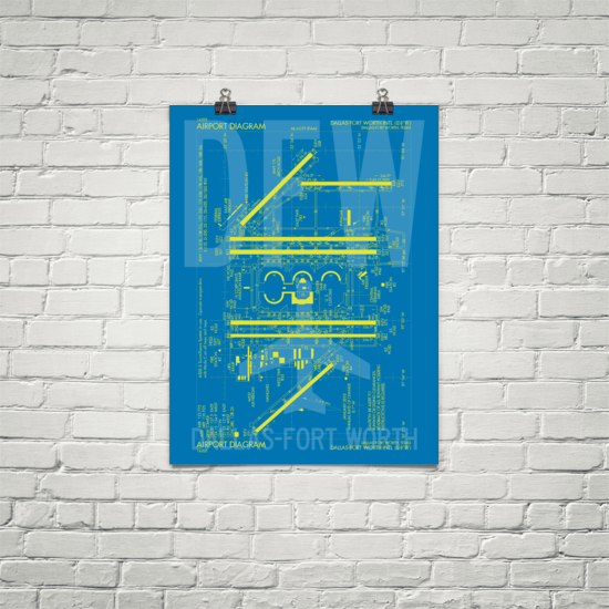 Airport Diagram Posters - New Sizes