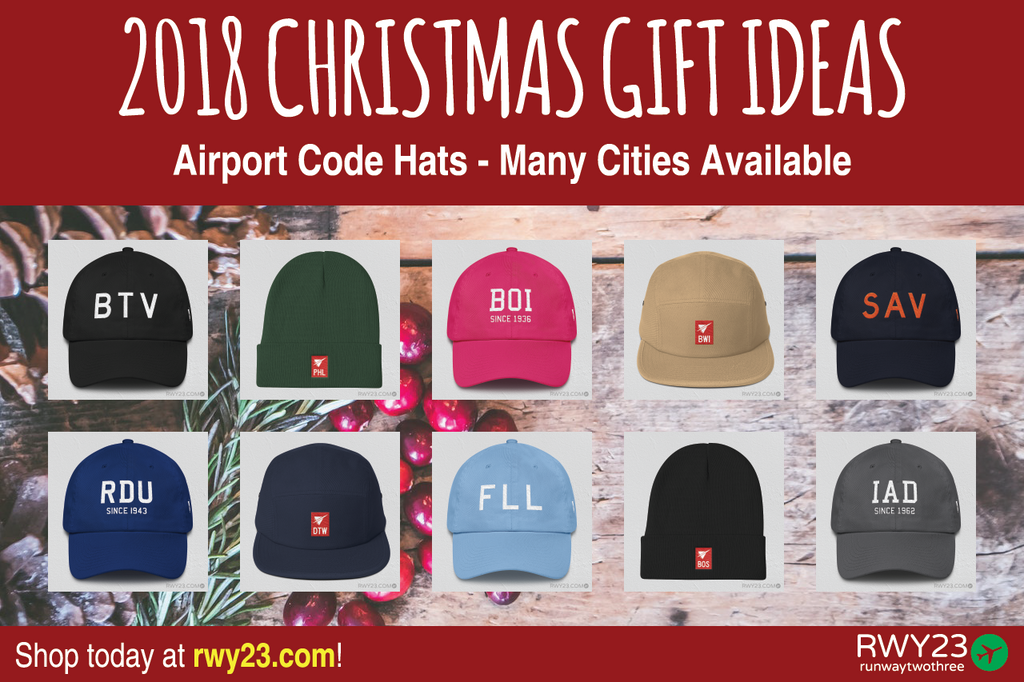 2018 Christmas Gift Ideas: Airport Code Headwear - Cool Airport Code Stuff - RWY23
