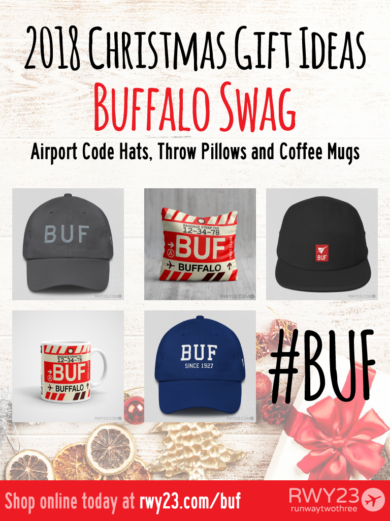 2018 Christmas Gift Ideas – BUF Buffalo Airport Code Swag – RWY23