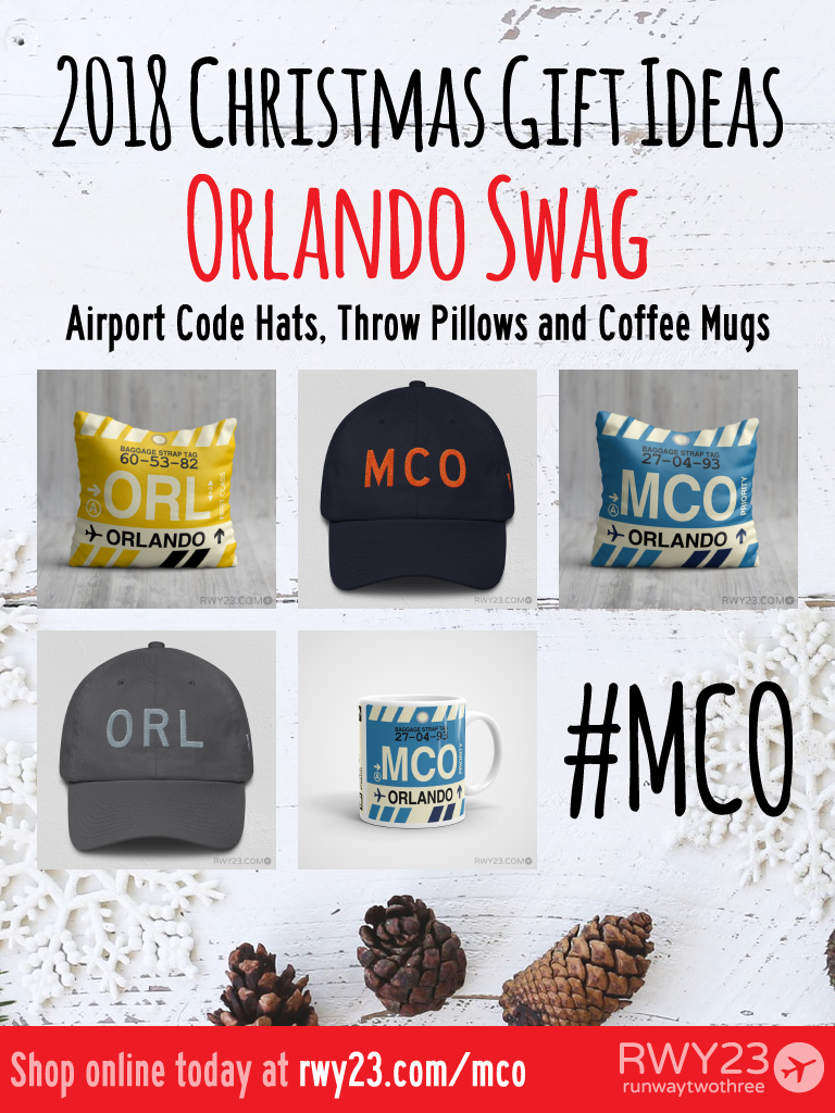 2018 Christmas Gift Ideas – MCO and ORL Orlando Airport Code Swag – RWY23
