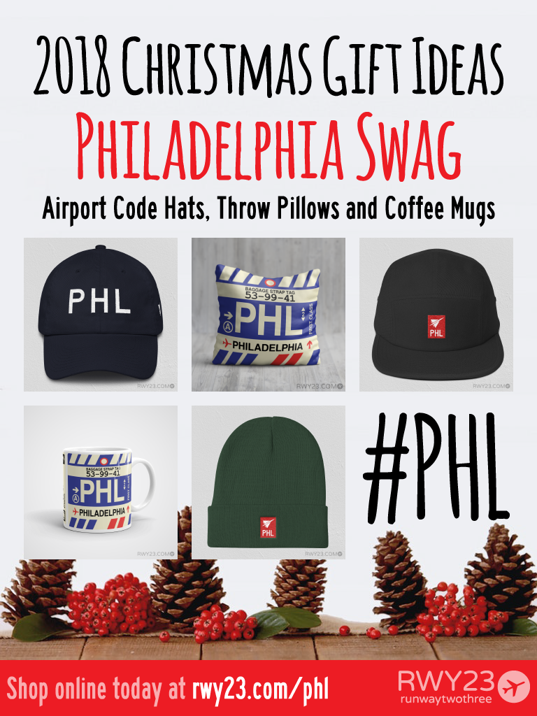 2018 Christmas Gift Ideas – PHL Philadelphia Airport Code Swag – RWY23