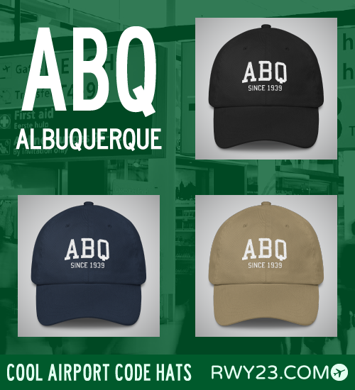 RWY23 - ABQ Albuquerque Airport Code Hat - Cool Airport Code Stuff