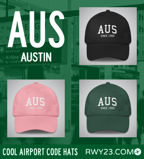 Austin Airport Code Hats - Cool Airport Code Stuff - RWY23