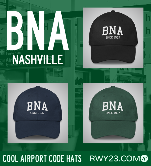 Nashville Airport Code Hats - Cool Airport Code Stuff - RWY23