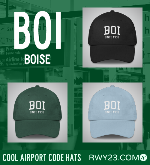 BOI Boise Airport Code Hat - Cool Airport Code Stuff - RWY23