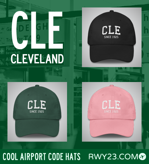 RWY23 - CLE Cleveland Airport Code Hat - Cool Airport Code Stuff