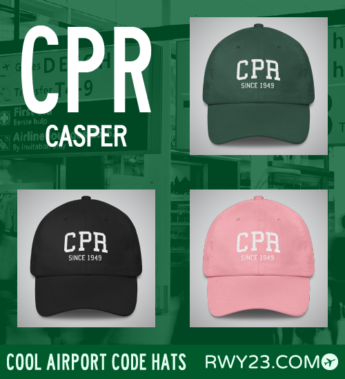 CPR Casper Airport Code Hat - Cool Airport Code Stuff - RWY23