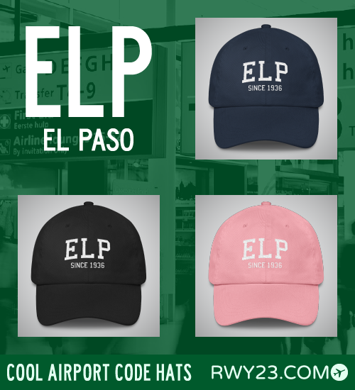 El Paso Airport Code Hats - Cool Airport Code Stuff - RWY23