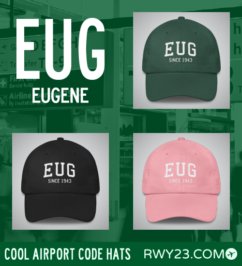 Eugene Airport Code Hats - Cool Airport Code Stuff - RWY23