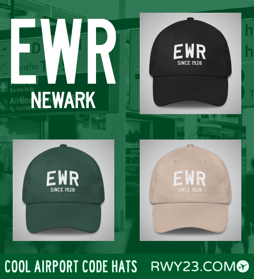 New York City (EWR) Airport Code Hats - Cool Airport Code Stuff - RWY23