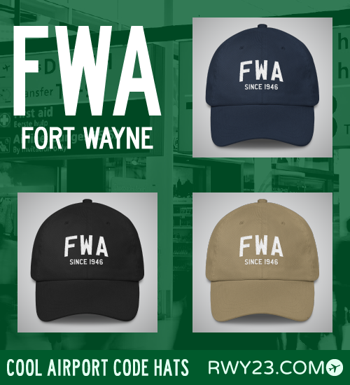 RWY23 - FWA Fort Wayne Airport Code Hat - Cool Airport Code Stuff