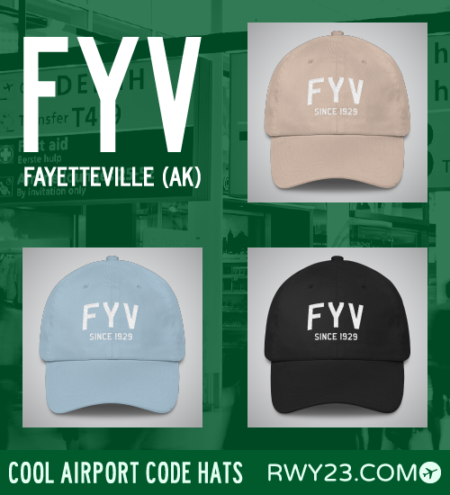 Fayetteville AK Airport Code Hats - Cool Airport Code Stuff - RWY23