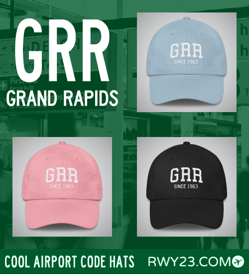 Grand Rapids Airport Code Hats - Cool Airport Code Stuff - RWY23