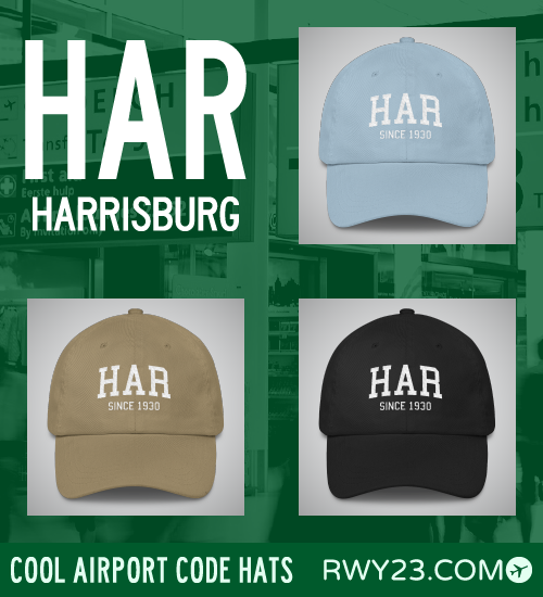 RWY23 - HAR Harrisburg Airport Code Hat - Cool Airport Code Stuff
