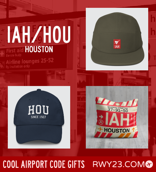 RWY23 - IAH/HOU Houston Local Gift Ideas - Cool Airport Code Stuff