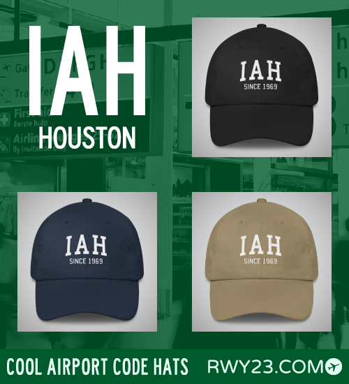 Houston (Bush) Airport Code Hats - Cool Airport Code Stuff - RWY23