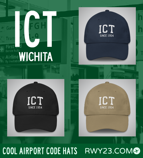 Wichita Airport Code Hats - Cool Airport Code Stuff - RWY23