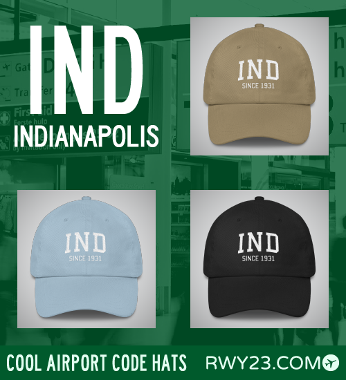 RWY23 - IND Indianapolis Airport Code Hat - Cool Airport Code Stuff