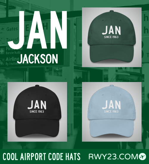 Jackson Airport Code Hats - Cool Airport Code Stuff - RWY23