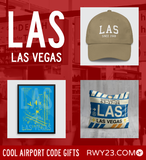 RWY23 - LAS Las Vegas Local Gift Ideas - Cool Airport Code Stuff