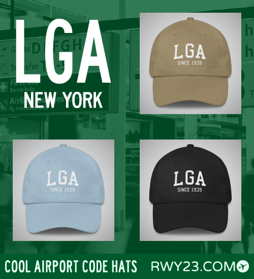 New York City (LGA) Airport Code Hats - Cool Airport Code Stuff - RWY23