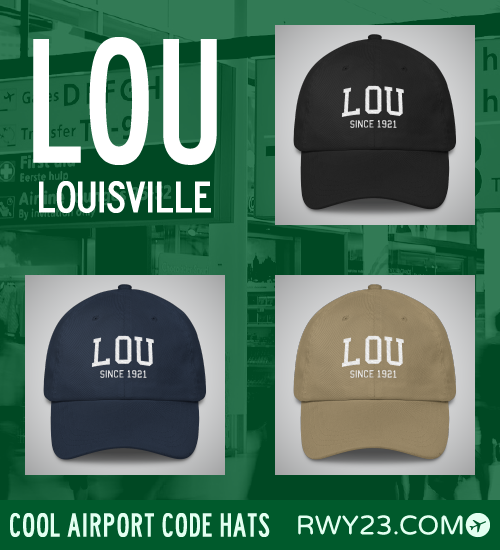 RWY23 - LOU Louisville Airport Code Hat - Cool Airport Code Stuff