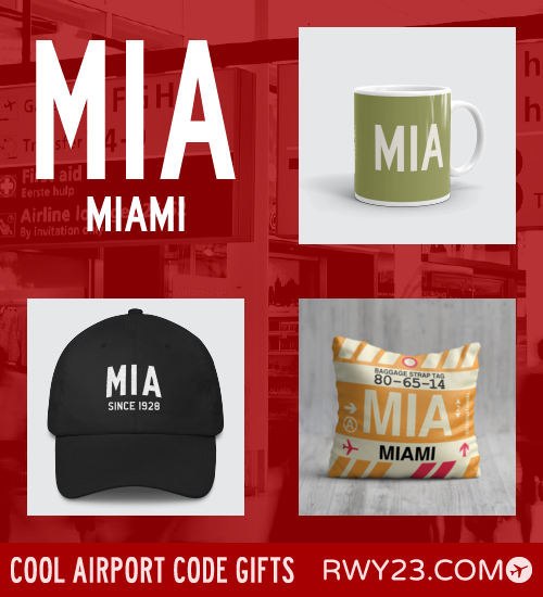 RWY23 - MIA Miami Local Gift Ideas - Cool Airport Code Stuff