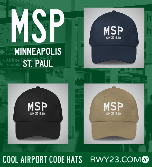 RWY23 - MSP Minneapolis St. Paul Airport Code Hat - Cool Airport Code Stuff