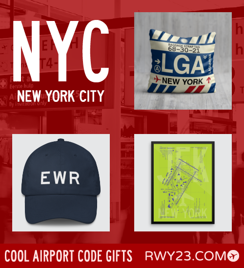 RWY23 - NYC New York City Local Gift Ideas - Cool Airport Code Stuff
