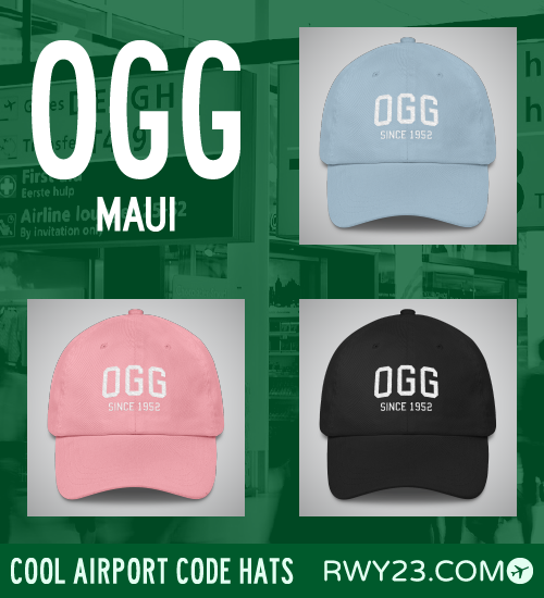 Maui Airport Code Hats - Cool Airport Code Stuff - RWY23