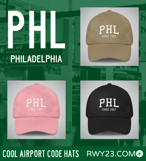RWY23 - PHL Philadelphia Airport Code Hat - Cool Airport Code Stuff