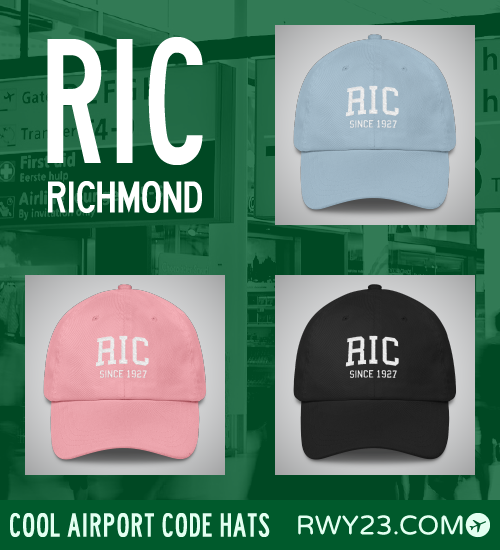 RWY23 - RIC Richmond Airport Code Hat - Cool Airport Code Stuff