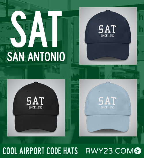 San Antonio Airport Code Hats - Cool Airport Code Stuff - RWY23