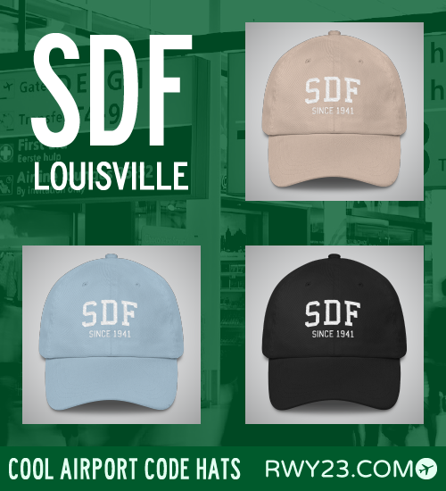 RWY23 - SDF Louisville Airport Code Hat - Cool Airport Code Stuff