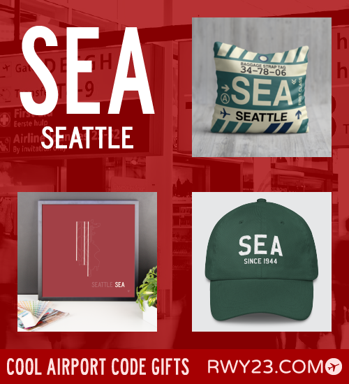 RWY23 - SEA Seattle Local Gift Ideas - Cool Airport Code Stuff