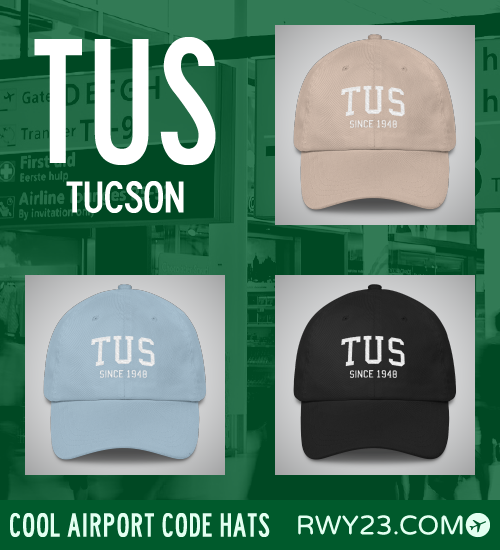 Tucson Airport Code Hats - Cool Airport Code Stuff - RWY23