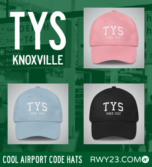Knoxville Airport Code Hats - Cool Airport Code Stuff - RWY23