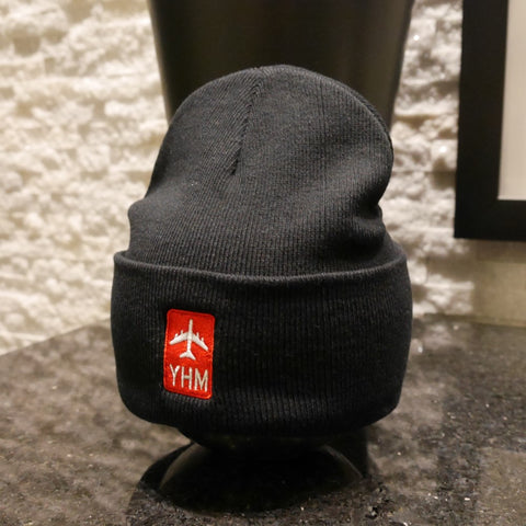 YHM Hamilton Airport Code Winter Hat - Jetliner Logo - Cool Airport Code Stuff - RWY23
