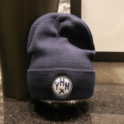YHM Hamilton Airport Code Beanie Winter Hat - Cool Airport Code Stuff - RWY23