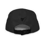 RWY23 - LAS Las Vegas Airport Code Camper Hat - City-Themed Merchandise - Roundel Design with Vintage Airplane - Image 8
