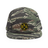RWY23 - BNA Nashville Airport Code Camper Hat - City-Themed Merchandise - Roundel Design with Vintage Airplane - Image 1