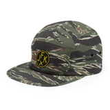 RWY23 - JFK New York Airport Code Camper Hat - City-Themed Merchandise - Roundel Design with Vintage Airplane - Image 10