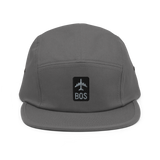 RWY23 - BOS Boston Airport Code Camper Hat - City-Themed Merchandise - Retro Jetliner Design - Image 8