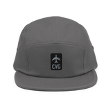 RWY23 - CVG Cincinnati Airport Code Camper Hat - City-Themed Merchandise - Retro Jetliner Design - Image 8