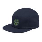 RWY23 - ABQ Albuquerque Airport Code Camper Hat - City-Themed Merchandise - Roundel Design with Vintage Airplane - Image 6