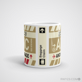 RWY23 - ANC Anchorage, Alaska Airport Code Coffee Mug - Teacher Gift, Airbnb Decor - Side