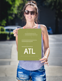 "RWY23 - ATL Atlanta Airport Runway Diagram Unframed Rectangle Poster - Travel Gift - 12""x16"" Person"