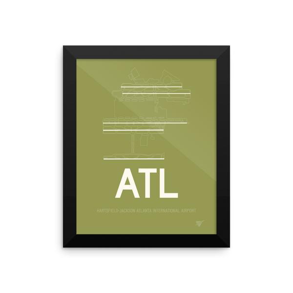 Atl Atlanta Runway Framed Cool Airport Code Stuff Rwy23